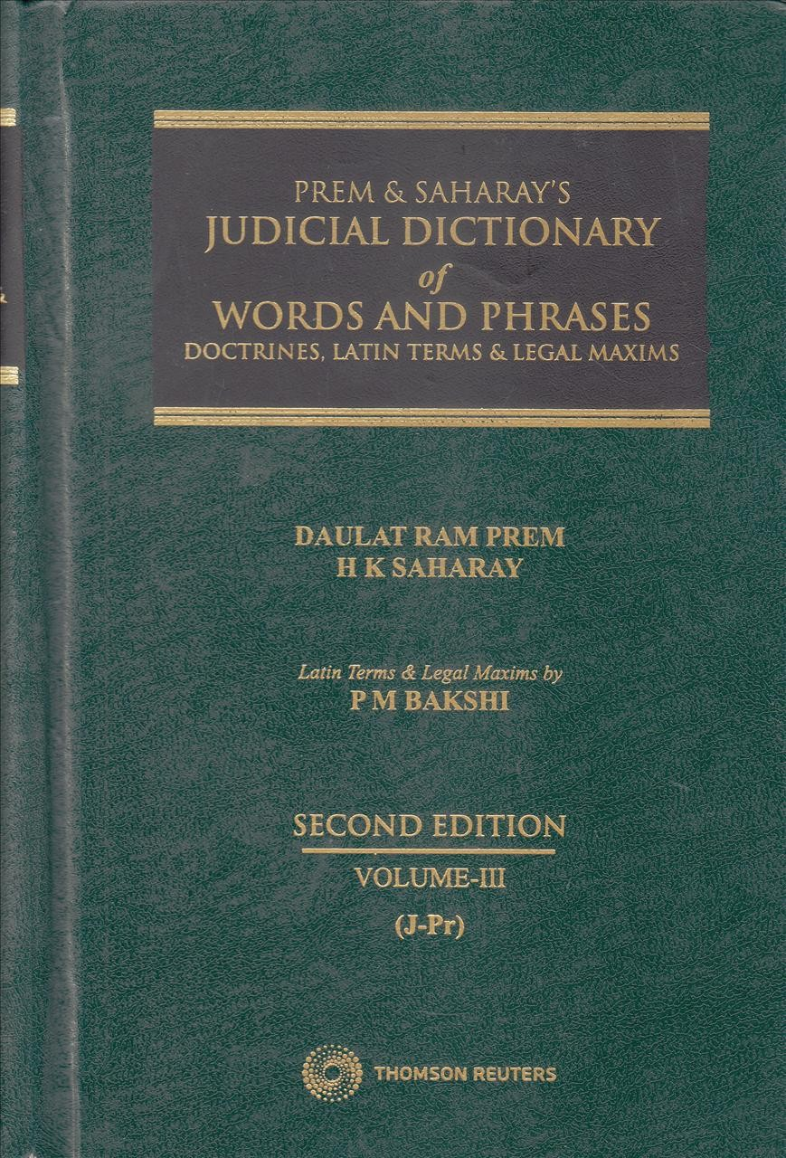 Judicial Dictionary Of Words and Phrases - in 4 Vols.